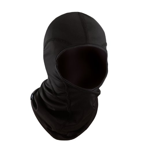 Turtle Fur Comfort Shell Reversible Double Barrel Hood Balaclava, Black, One Size