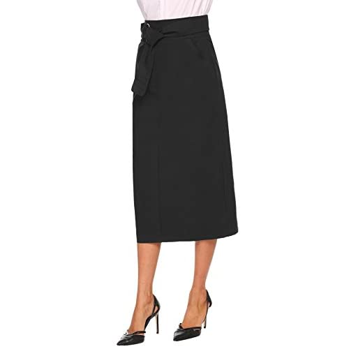 cheap Keland Falda Largas Vintage Mujer Alta Cintura la Altura del Tobillo  Enaguas Plisada Enaguas Bolsillos 2042cba6c2ab