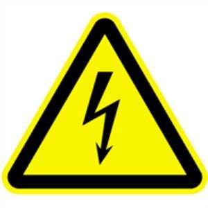 Plaque plaque avertissement de tension é lectrique sl aluminium 20 cm König Werbeanlagen