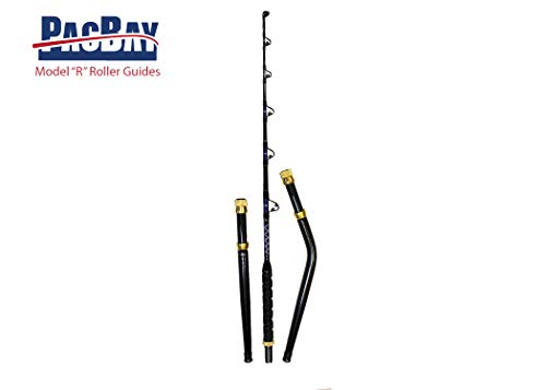 Xcaliber Marine PRO Tournament Series 6' 80-130 Saltwater TROLLING Rod Includes Bent and Straight Butt
