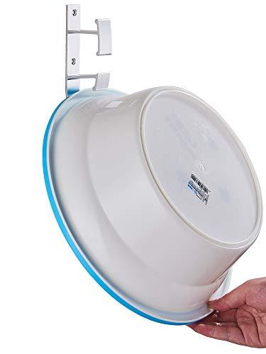 - GJJ Punch-Free Washbasin Stand-Wall-Mounted Washbasin Storage Rack-Bathroom Shelf-Bathroom Shelf-Bathtub Hook,Silver,A