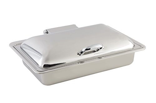 Bon Chef 20305 Stainless Steel Rectangular Induction Chafing Dish, 2 gal Capacity, 15-15/16