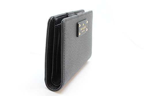 9088eea40d038 Kate Spade New York Tellie Grove Street Embossed Leather Wallet (Black) at  Amazon Women s Clothing store