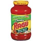 Ragu Chunky Pasta Sauce 24oz Jar (Pack of 4) (Choose Flavor Below) (Mama's Special Garden)