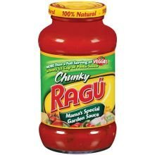 Ragu Chunky Pasta Sauce 24oz Jar (Pack of 4) (Choose Flavor Below) (Mama's Special Garden) Ragu Organic Sauce