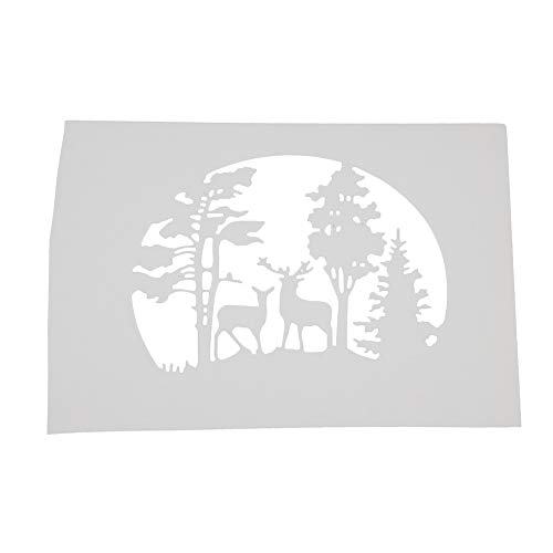 AkoMatial Cutting Dies,Forest Deer Design Embossing Cutting Dies Tool Stencil Template Mold Card Making Scrapbook Album Paper Card Craft,Metal by AkoMatial (Image #3)