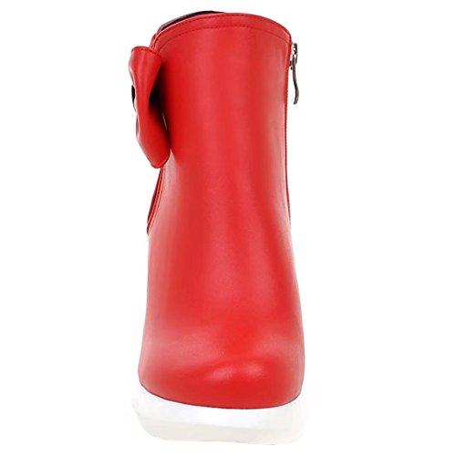 AIYOUMEI Women's Classic Boot Red 3WjpfM9