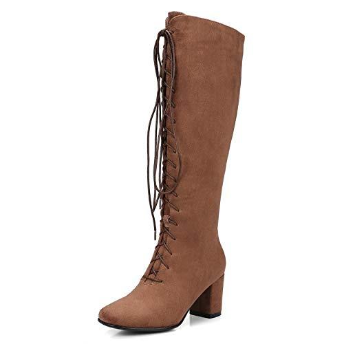 Largo Tacco Scarpe Brown con Stivali da Tacco e Lsm Donna Largo X6aqxz