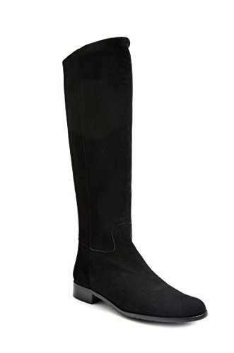 Eye Women's Knee High Leather and Suede Riding Boots J 16 Black Suede
