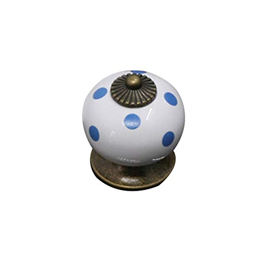 kin Ceramic Pull Knobs Vintage Round Handles Cabinet Door Drawer Locker - Moose Amerock Southern Tab Hexagon Cup Flat Emtek And Flower ()