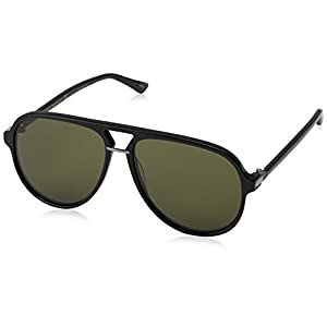 Gucci 0015S 001 Black 0015S Aviator Sunglasses Lens Category 3 Size 58mm