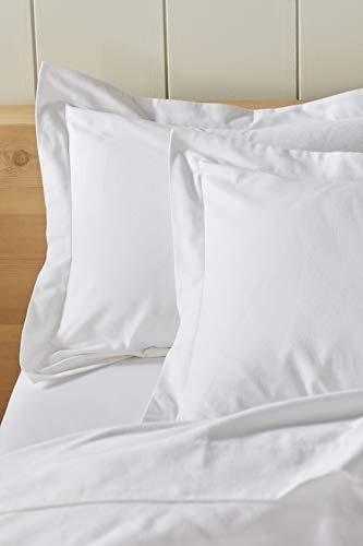 Coyuchi Cloud Brushed Organic Flannel Sham, Euro, Alpine White