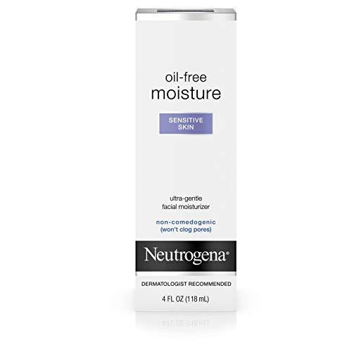 Neutrogena Oil Free Moisture Daily Hydrating Facial Moisturizer & Neck Cream with Glycerin - Fast Absorbing Ultra Gentle Lightweight Face Lotion & Sensitive Skin Face Moisturizer, 4 fl. oz