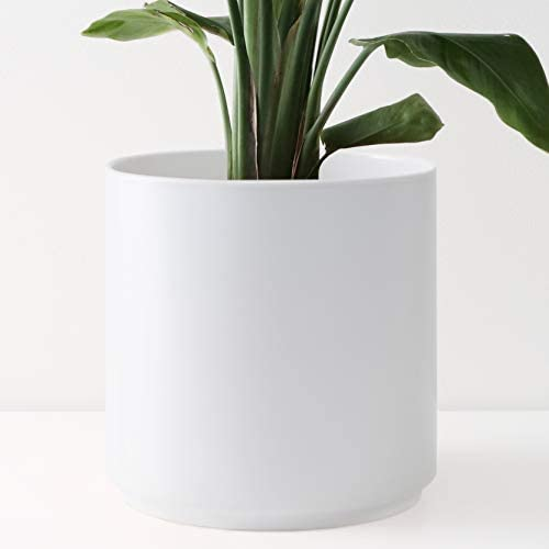 Minimalist Shape Plant Pot Matte Black Planter Indoor /& Outdoor Modern Lightweight Hand Painted Planters Large Planter Pot