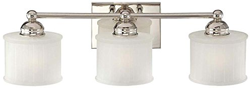 Minka Lavery Wall Light Fixtures 6733-1-613, 1730 Series Reversible Bath Vanity Lighting, 3 Light, 300w, Polished ()