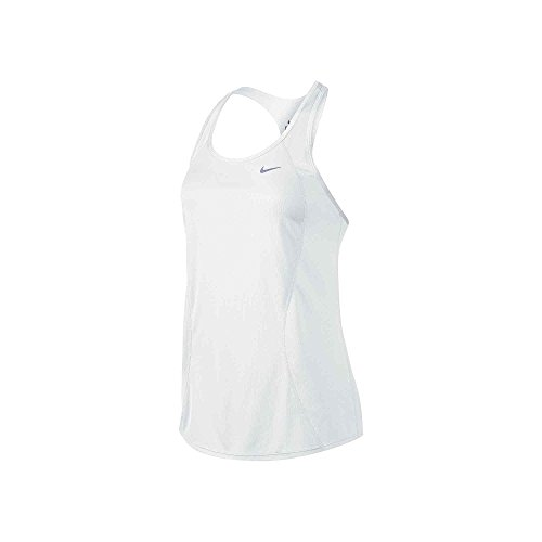 Nike Racer Tank - Camiseta para mujer white/white/white/reflective silver
