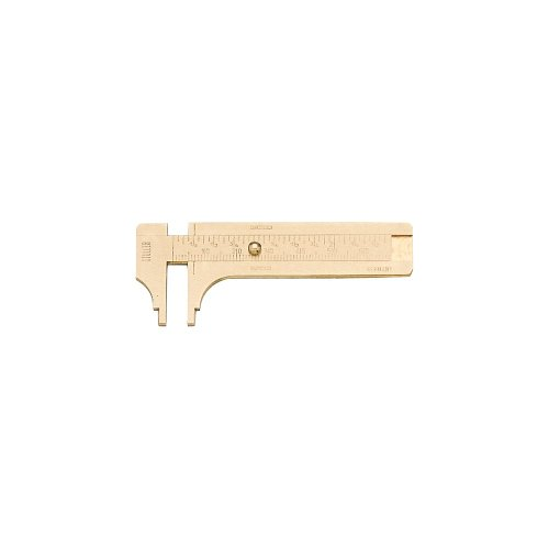 Brass Sliding Millimeter Gauge Notched Jaw 60Mm - Millimeter Finger