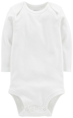 Simple Joys by Carter's Baby 7-Pack Long-Sleeve Bodysuit, White, 0-3 Months by Simple Joys by Carter's (Image #3)