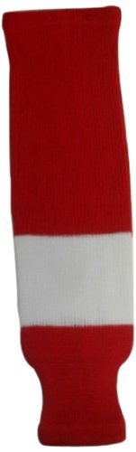 DoGree Hockey Detroit Redwings Knit Hockey Socks, Red/White, (Junior Wings)