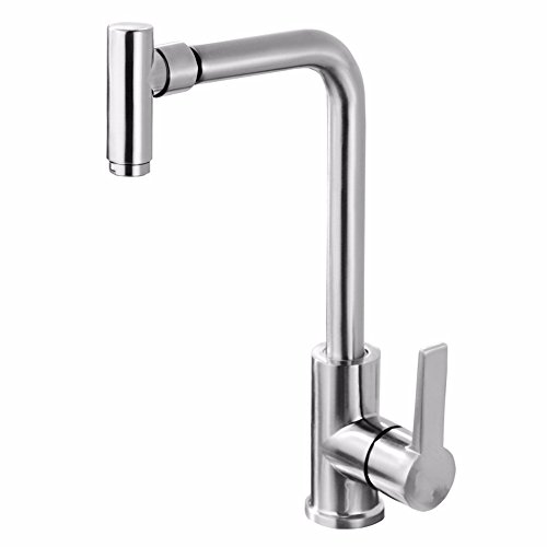 LOSTRYY Swivel kitchen sink stainless steel lead-free hot and cold faucet sink faucet 50%OFF