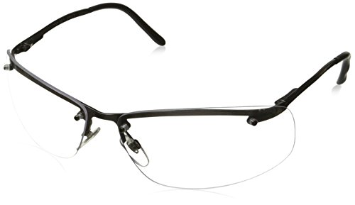 Uvex S4110 Slate Safety Eyewear, Matte Gunmetal Frame, Clear Hardcoat - Custom Glasses Safety