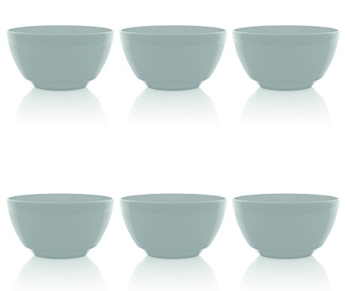 - Ou Premium Design- Unbreakable Luna Bowls, Set of 6 (17 oz, White)