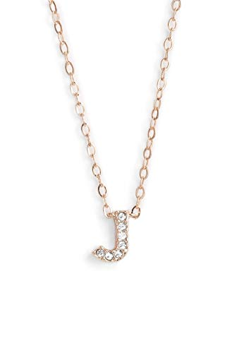 Nadri. Initial Pendant Necklace - J Rose Gold for sale  Delivered anywhere in USA