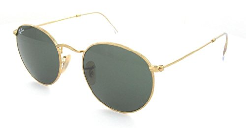 Ray Ban RB3447 001 50 Arista/Crystal Green Round Sunglasses Bundle-2 - Rb3447 Ray Ban
