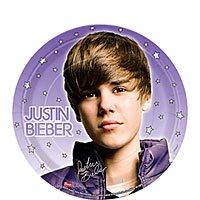 ShindigZ 7 inch Dessert Plates 8-Pack - Justin Bieber