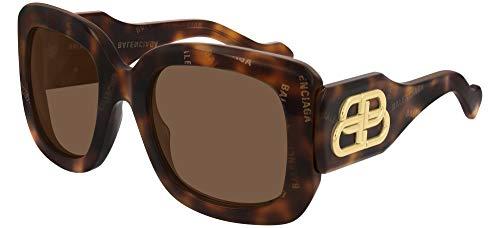 Balenciaga BB0069S HAVANA/BROWN 53/23/135 women Sunglasses