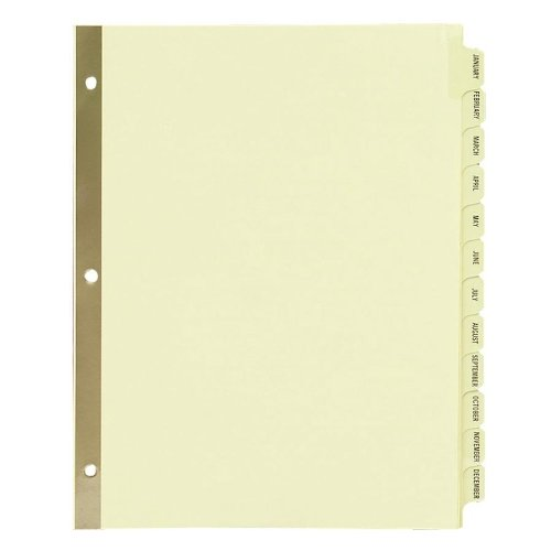 Avery Preprinted Dividers with JAN-DEC Tabs, 1 Set
