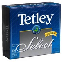 Tetley Select Tea, 100-Count Envelopes (Pack of 10) by Tetley