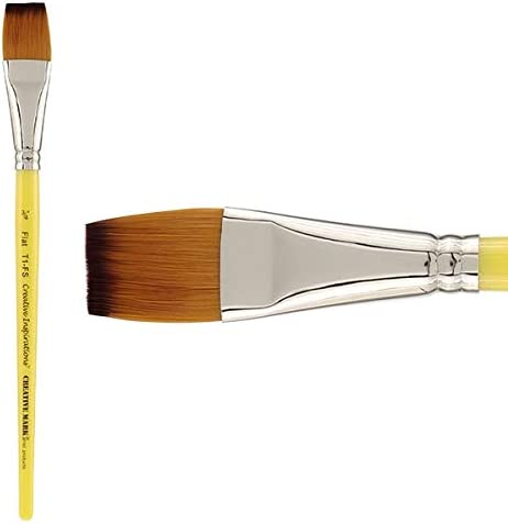 Creative Inspirations Dura-Handle Artist Paint Brush Long Solid Resin Handle Resists Chips /& Cracks Size Round #4