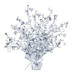 Anniversary Gleam 'N Burst Centerpiece (silver) Party Accessory  (1 count) (1/Pkg)