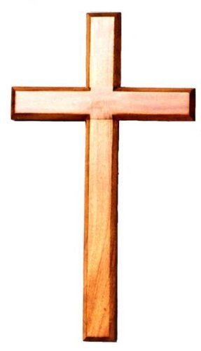40cm Wooden Mahogany Very Large Wall Hanging Cross Brown Wood