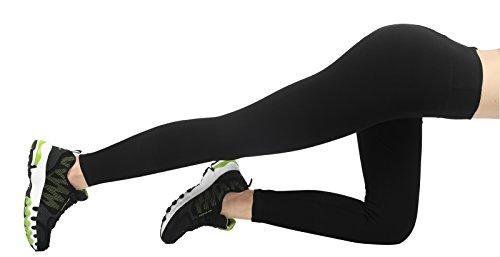 Pack 4how® legging Jogging De Vélo 2 Pantalon Noir pour Yoga Fitness Femme Sport xwPBqrtxa