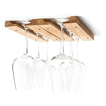 Fox Run 5025 Wine Glass Holder Rack, Wood