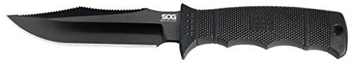 SOG SEAL Pup Elite Fixed Blade E37SN-CP - Black TiNi 4.85' AUS-8 Blade, GRN Handle, MOLLE Compatible Nylon Sheath