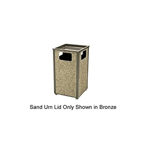 Rubbermaid Commercial Products Aspen Series Sand Urn with Lid (FGHTA1BK)