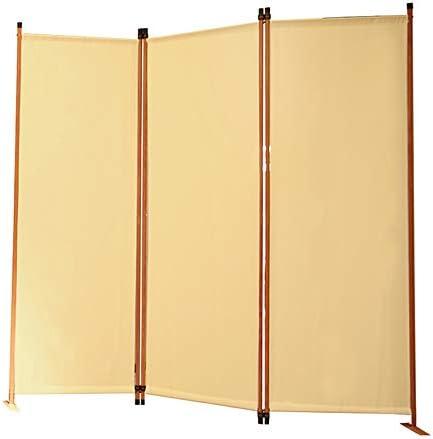 Angel Living Biombo Separador de Habitación de 3 Paneles, Decoración Elegante, Separador de Ambientes Plegable, Divisor de Habitaciones, para el Hogar, 169X165 cm (Beige): Amazon.es: Hogar