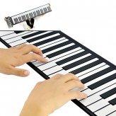 Nueva Flexible Roll Up Sintetizador Teclado Piano con Teclas suaves – 128 sintetizado de diferentes tonos