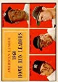 1961 Topps #44 AL Home Run Leaders/Mickey Mantle/Roger Maris/Jim Lemon/Rocky Colavito - EX-MT