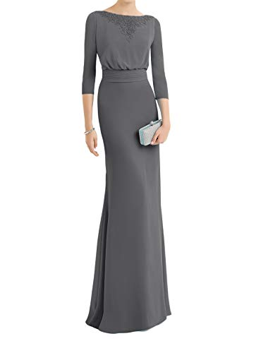 Bodenlang Marie Mit Perlen Blau Braut La Etuikleider Brautmutterkleider Abendkleider Ballkleider Hell Grau qpIHndw