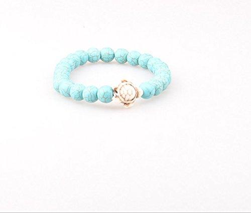 Cadeaux Jouets d'artisanat dé coratifs Bracelet de perle de tortue turquoise naturelle de cadeau de plage Upstudio