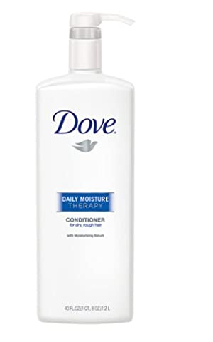 Dove Daily Moisture Therapy Conditioner, Dry/Rough Hair, 40 Ounce (Pack of 2) - Hydra Intense Hydrating Gel Mask