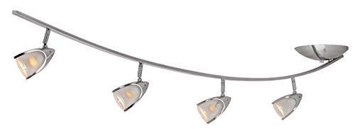 Comet - 4-Light Semi Flush - Brushed Steel Finish - Opal Glass Shade from Access Lighting - HI