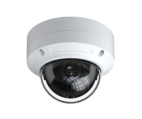 HDView 5MP Megapixel IP Network Camera ONVIF PoE, 2.8mm Wide Angle Lens 3-Axis, Vandalproof ()