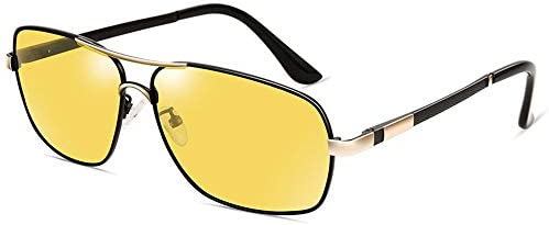 CDKET 男性用変色偏光サングラス、アウトドア旅行用釣りサングラス、運転手の運転用ミラー、毎日と夜間の使用 CDKET