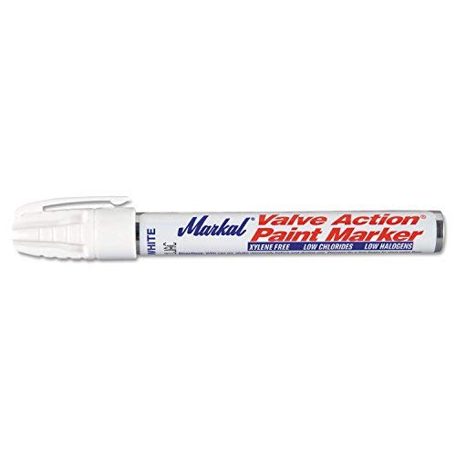 Laco Markal 96820 White Valve Action Paint Marker (Pack of 12) by Markal