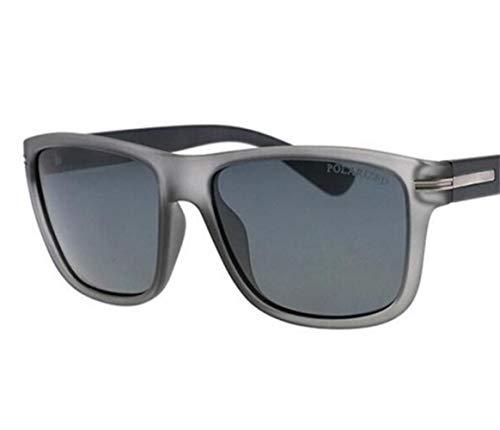 FlowerKui UV400 de de gafas Pesca Deporte Moda Marco Gafas polarizadas sol Gafas conducción Esquí cuadrado Ciclismo Grey Protección Mujeres Hombres de sol vFqrSv